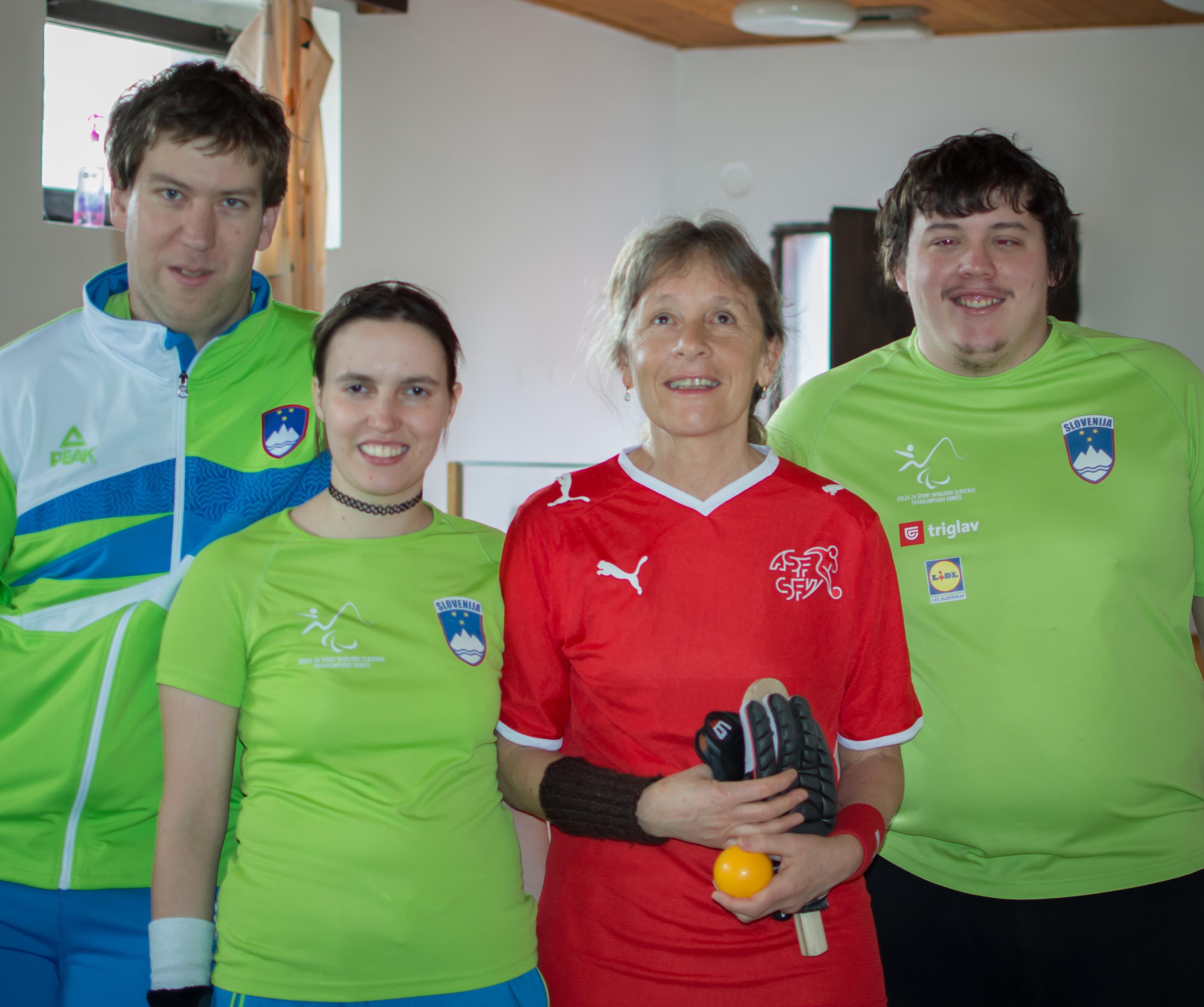 Rita mit slowenischem Team